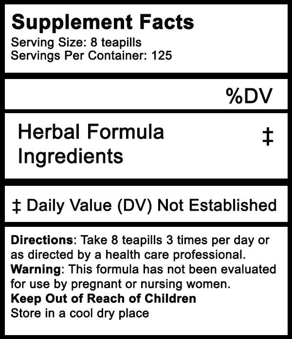 herbal tea pill facts